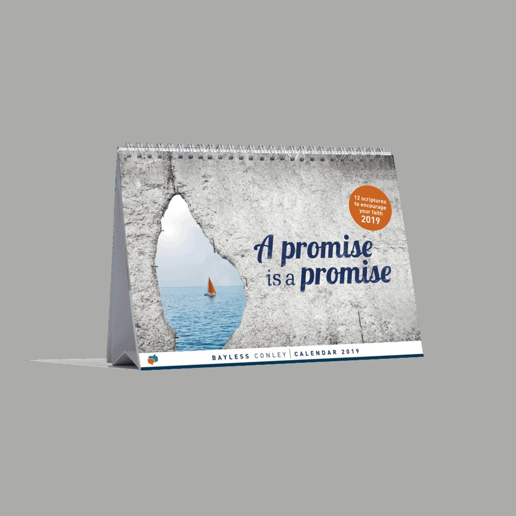 Calendar 2019: A Promise is a Promise 1